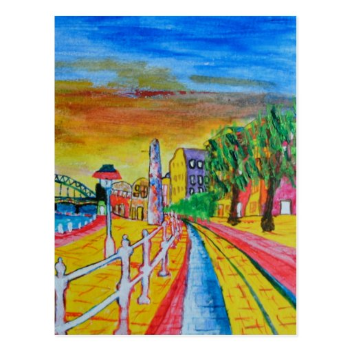 Newcastle quayside postcard
