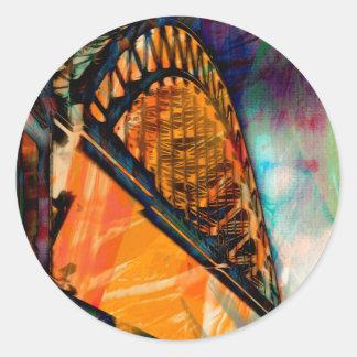 Newcastle Tyne Bridge Classic Round Sticker