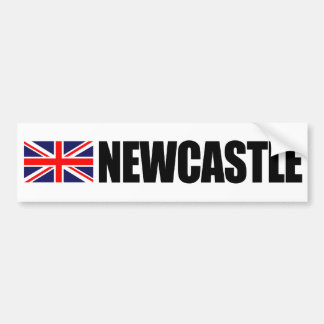 Newcastle UK Flag Bumper Sticker