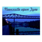 Newcastle upon Tyne Blue Bridges Postcard