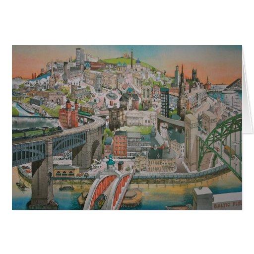 Newcastle upon Tyne through the Years Card