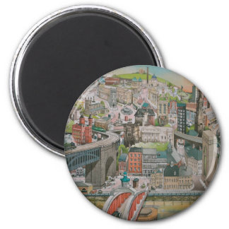 Newcastle upon Tyne through the Years Magnet
