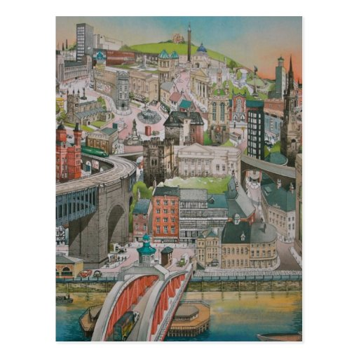 Newcastle upon Tyne through the Years Post Card