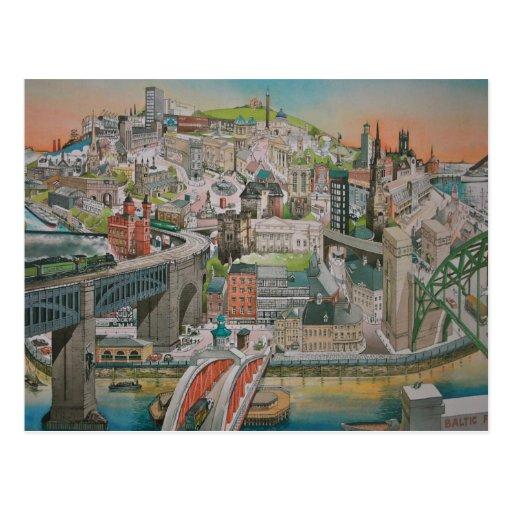 Newcastle upon Tyne through the Years Postcard