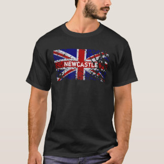 Newcastle Vintage Peeling Paint Union Jack Flag T-Shirt