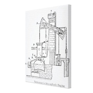 Newcomen's Atmospheric Engine Stretched Canvas Print