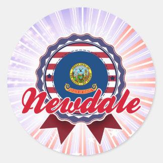 Newdale, ID Round Stickers