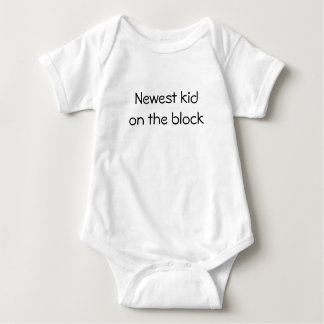 Newest kid on the block baby bodysuit