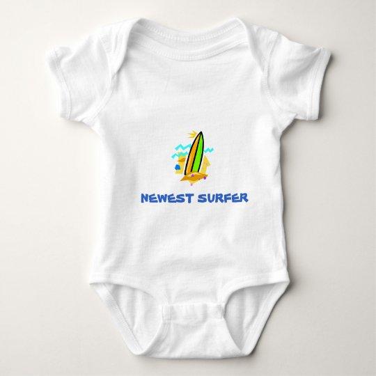 Newest Surfer Baby Bodysuit