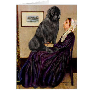 Newfie 1 - Whistler's Mother Card