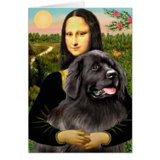 Newfie 2 - Mona Lisa Card