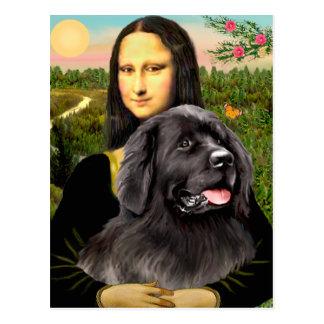 Newfie 2 - Mona Lisa Postcard