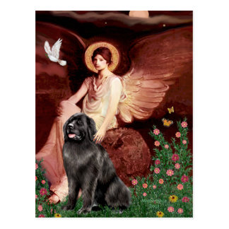 Newfie 2 - Seated Angel Postcard