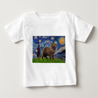 Newfie (brown2) - Starry Night Baby T-Shirt