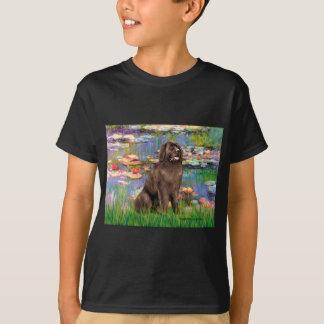 Newfie (brown) - Lilies 2 T-Shirt
