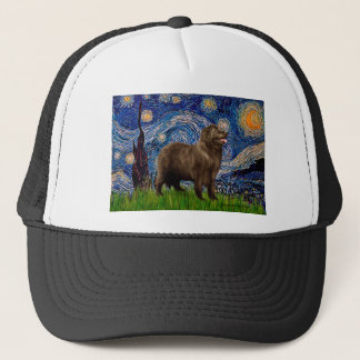 Newfie (brown) - Starry Night Trucker Hat