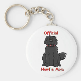 Newfie Mom Key Ring