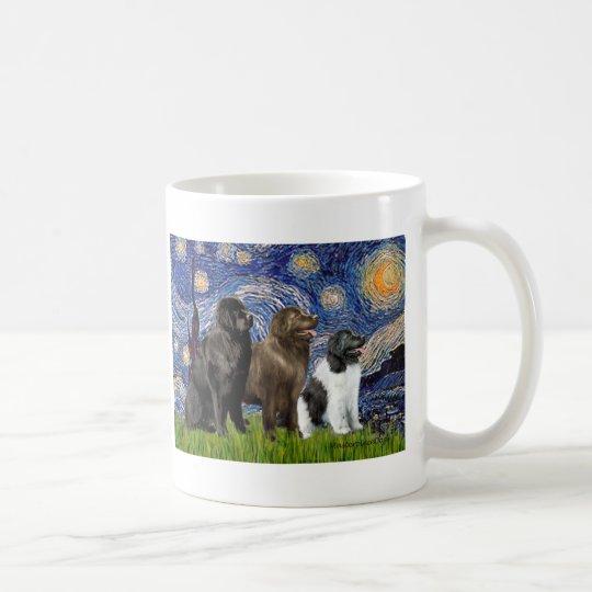Newfie Trio - Starry Night Coffee Mug