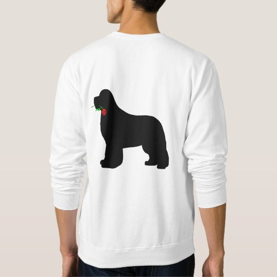Newfie with Rose Sweatshirt