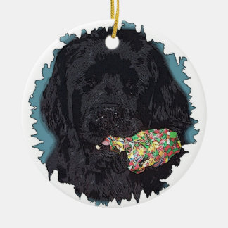Newfoundlad Dog Christmas Ornament I didn't do it