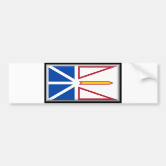Newfoundland and Labrador Flag Bumper Sticker