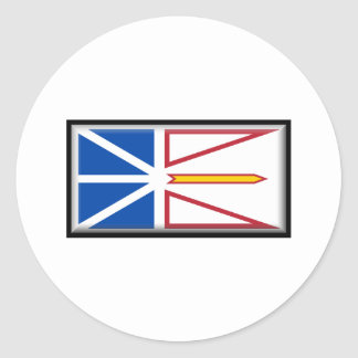 Newfoundland and Labrador Flag Classic Round Sticker