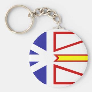 Newfoundland And Labrador flag Key Ring