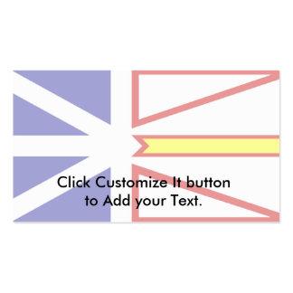 Newfoundland And Labrador flag Pack Of Standard Business Cards