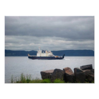 Newfoundland Bell Island Ferry Flanders Print Photograph