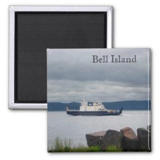 Newfoundland Bell Island Ferry Flanders Square Magnet