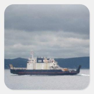 Newfoundland Bell Island Ferry Flanders Square Sticker