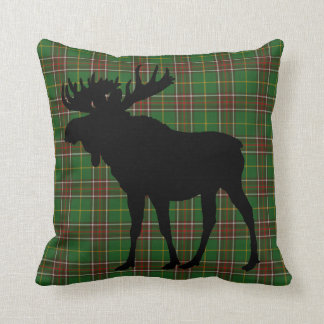 Newfoundland Canada Custom Tartan Moose rustic Cushion