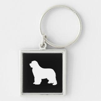 Newfoundland dog beautiful silhouette keychain