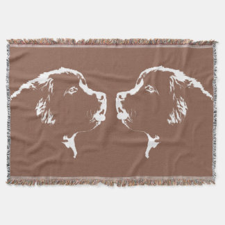 Newfoundland Dog Blanket Puppy Dog Throw Blanket