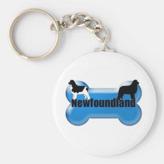 Newfoundland Dog bone Key Ring