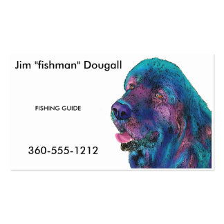 Newfoundland Dog Double-Sided Standard Business Cards (Pack Of 100)