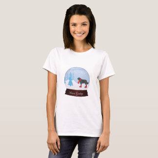 Newfoundland Dog Christmas T-Shirt