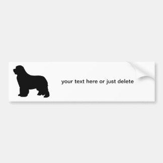 Newfoundland dog custom bumper sticker, silhouette bumper sticker