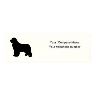 Newfoundland dog custom business card, silhouette pack of skinny business cards