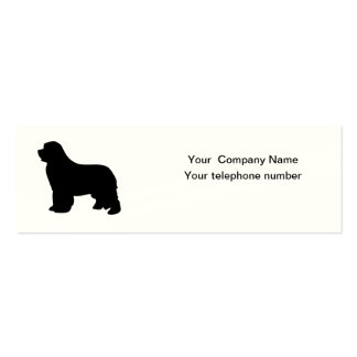 Newfoundland dog custom business card, silhouette pack of skinny business cards