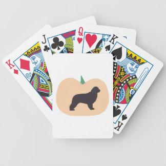 Newfoundland Dog Halloween Playing Cards