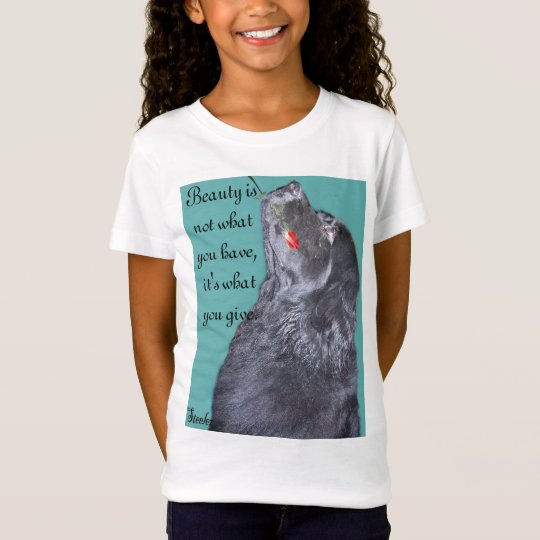 Newfoundland dog holding rose. T-Shirt