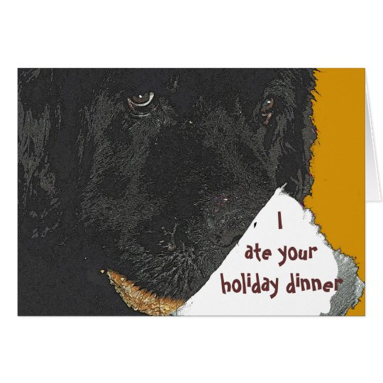 Newfoundland dog Holiday Card