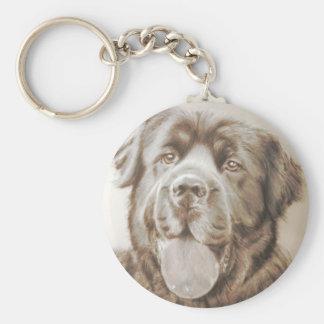 Newfoundland dog key ring