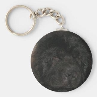 Newfoundland Dog Keychain