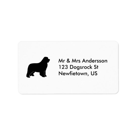 Newfoundland dog label