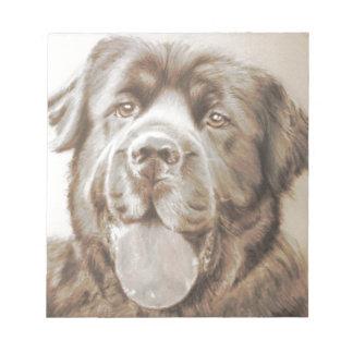 Newfoundland dog notepad