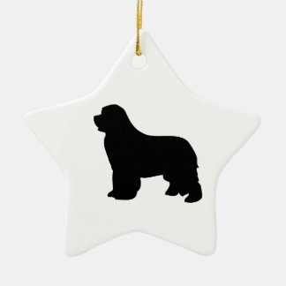 Newfoundland dog ornament, black silhouette, gift christmas ornament