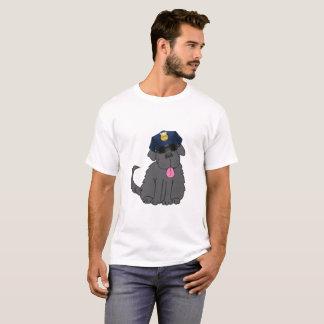 Newfoundland Dog Police Chief T-Shirt
