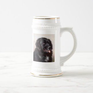 Newfoundland Dog Portrait Beer Stein